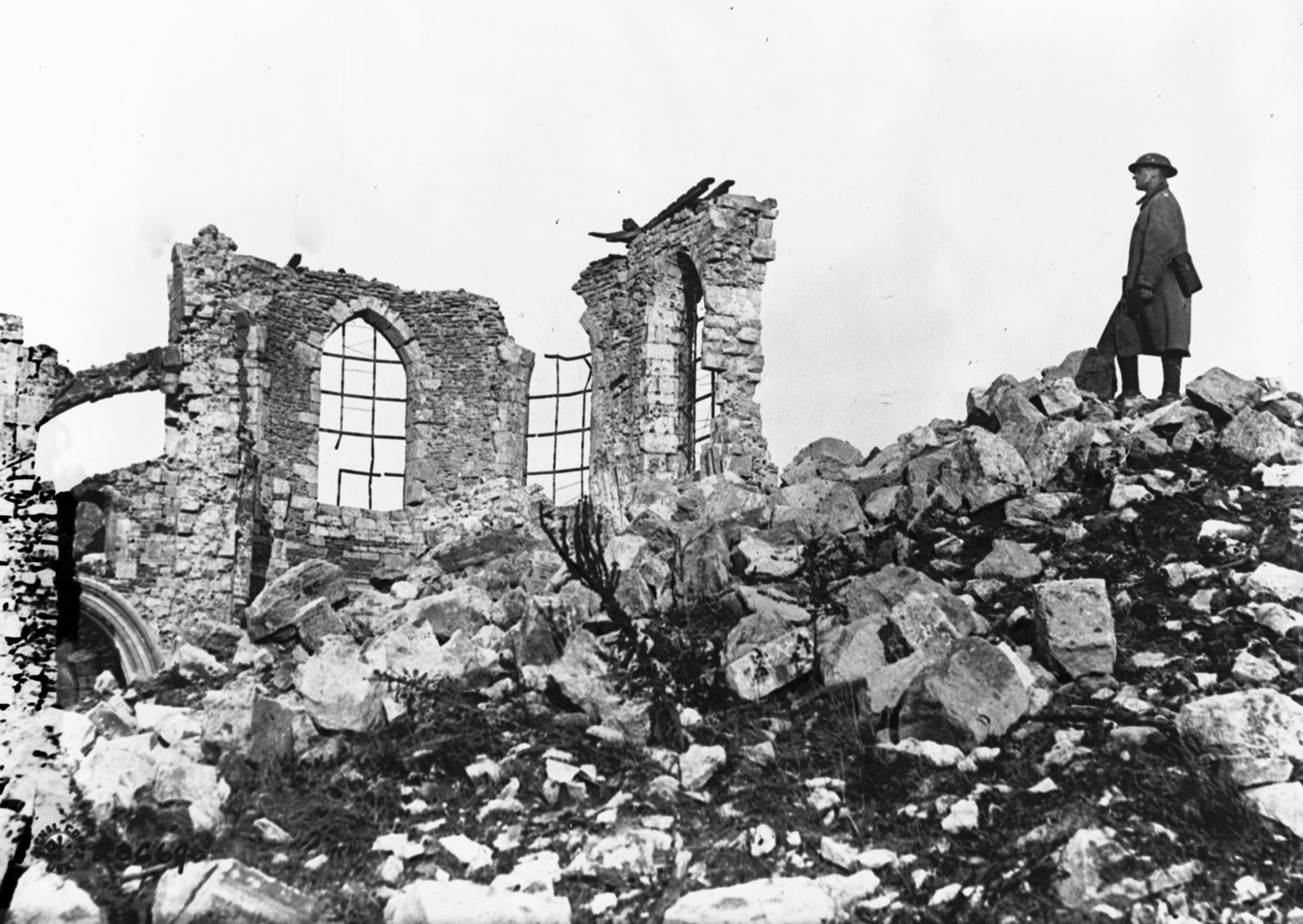 Church ruins after Battle of Verdun