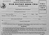 World War II: front cover of a war ration book