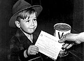Rationing: child with war rationing book